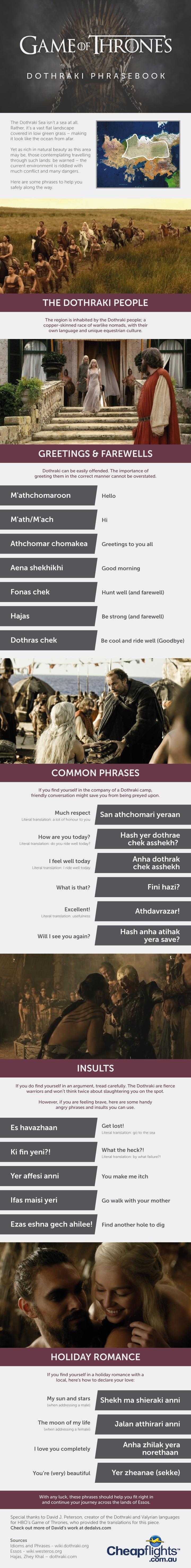 Game Of Thrones - Dothraki PhraseBook