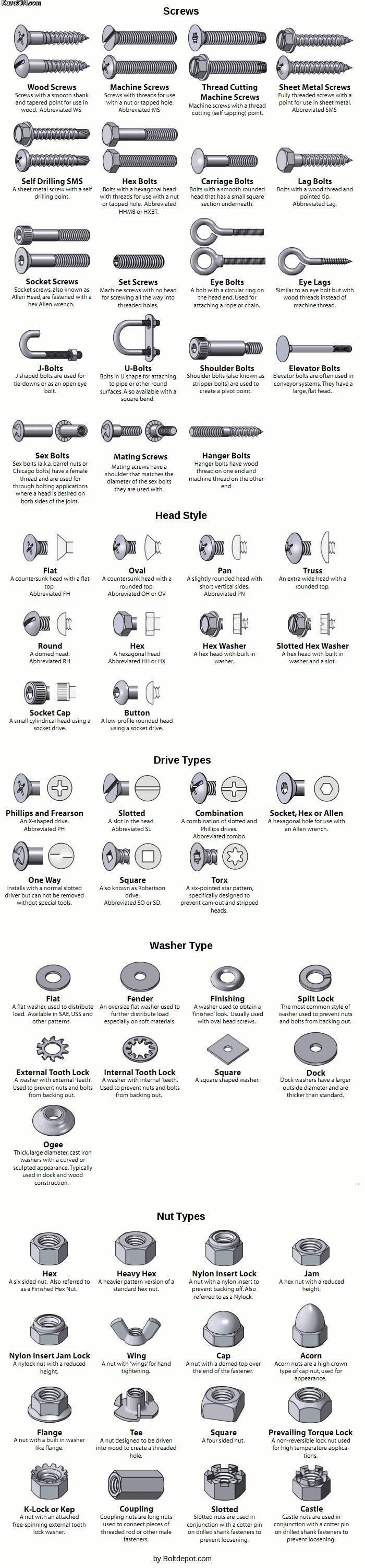 Types Of Screws And Bolts