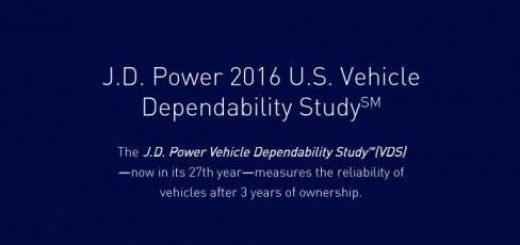 J.D. Power 2016 U.S. Vehicle Dependability Study Main